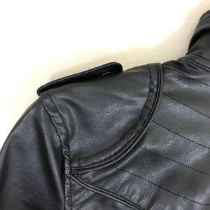 Paris Blues Jackets & Coats - Paris Blues Half Sleeved Vegan Leather Jacket